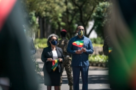 PM Abiy Ahmed said a three-day deadline to surrender had expired, paving the way for a final push on Mekelle, Tigray's capital [Eduardo Soteras/AFP]