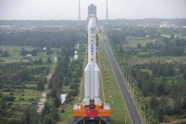 The Long March-5 rocket on Tuesday launched China's Chang'e-5 lunar probe [File: Stringer/AFP]