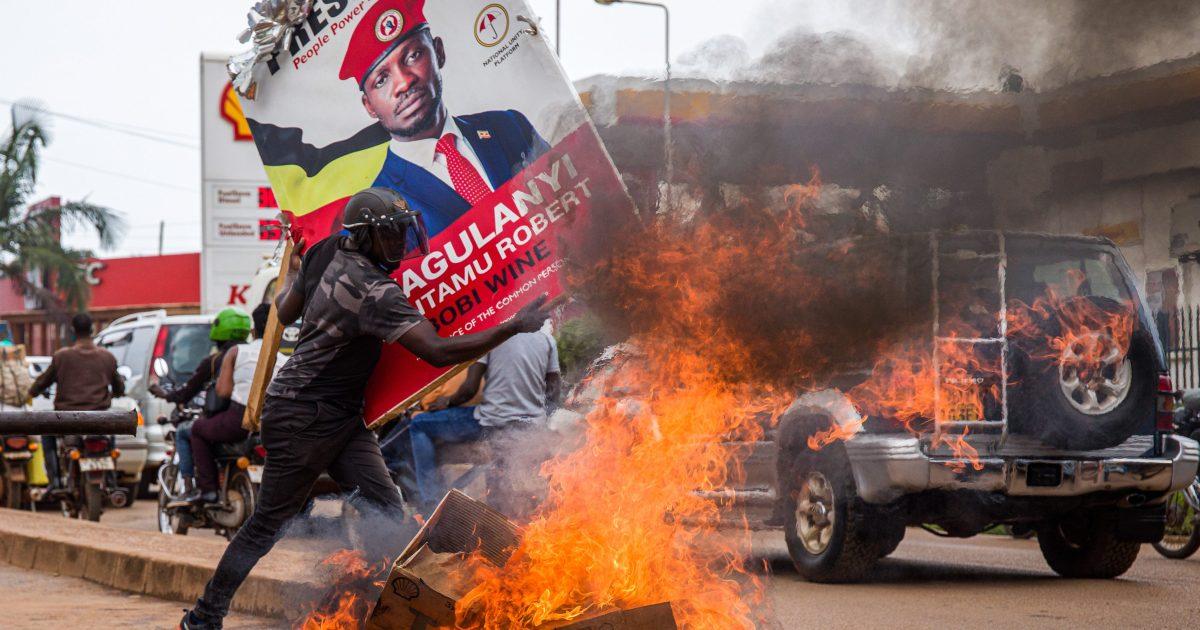 Deadly protests in Uganda after Bobi Wine arrested again | Uganda | Al  Jazeera