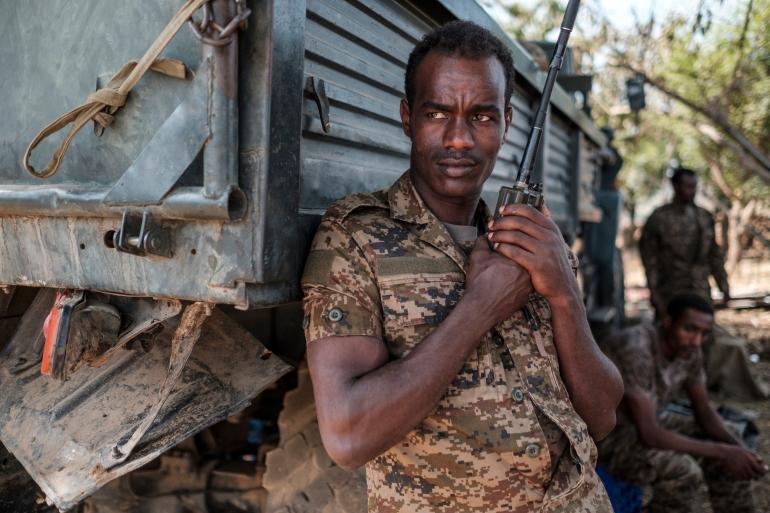 Ethiopia's military killed 42 armed men accused of attacking the village [Eduardo Soteras/AFP]