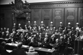 A picture taken in 1946 during the Nuremberg trial where Nazi criminals were judged for their crimes [AFP]