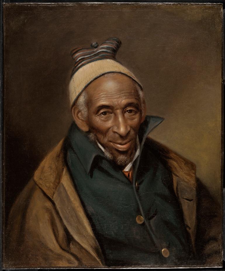 Sanatçı Charles Willson Peale tarafından Georgetown, Washington, DC'de yapılan Civanperçemi Mamout'un bir portresi, 1819'da [Philadelphia Sanat Müzesi]
