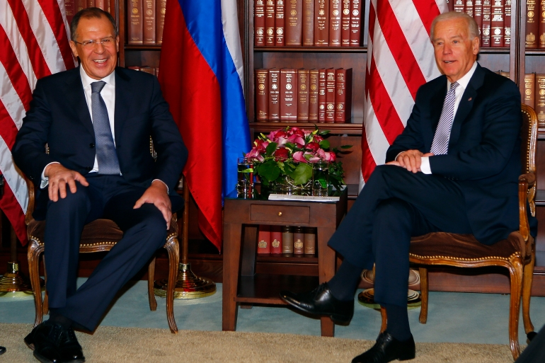 US-Russia ties under the Obama administration were strained, in part due to US sanctions imposed on Russia over its annexation of the Crimean Peninsula in Ukraine [File: Michael Dalder/Reuters]