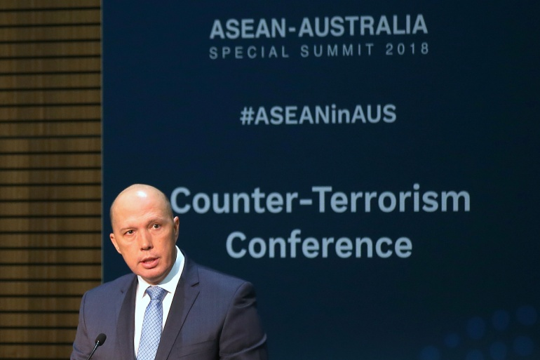 Dutton said Benbrika poses 'a significant terrorist threat' to Australia [File: Rick Rycroft/Pool via Reuters]