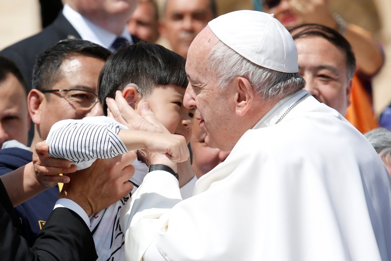 Pope Francis has declined to call out China for its crackdown on religious minorities [File: Remo Casilli/Reuters]