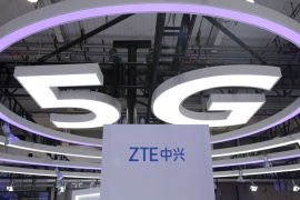 The US has ruled that Chinese telecommunications equipment maker ZTE, like its domestic rival Huawei, poses a national security threat [File: Jason Lee/Reuters]