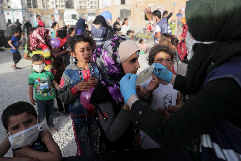 The first categories of people to be vaccinated in the coming days in the Idlib region will be medical personnel [File: Khalil Ashawi/Reuters]