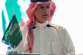 Saudi Arabia's Minister of State for Foreign Affairs Adel al-Jubeir called Berlin's weapons-sale ban 'illogical' [File: Ahmed Yosri/Reuters]