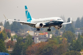 The grounding of the 737 MAX and the coronavirus have severely dented Boeing's profits [File: Mike Siegel/Pool via Reuters]