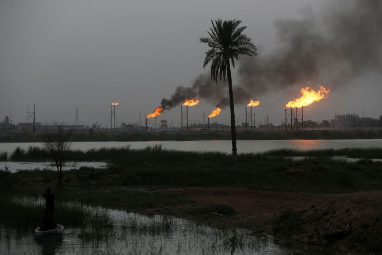 Officials halted operations at the Siniya refinery to prevent further damage [File: Essam al-Sudani/Reuters]