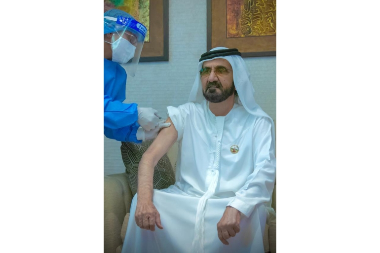 'We are proud of our teams who have worked relentlessly to make the vaccine available in the UAE,' Al Maktoum wrote on Twitter [Reuters]