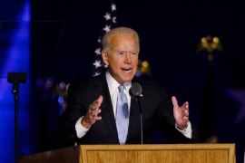 Joe Biden will have to simultaneously address foreign and domestic urgencies [Jim Bourg/Reuters]