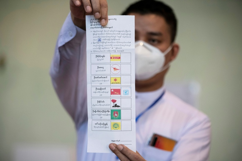 Aung San Suu Kyi in line for second term as Myanmar votes counted    Elections News   Al Jazeera