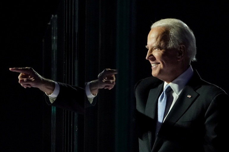 The Associated Press declared Joe Biden the winner of the US presidential elections on November 7 after the Democrat won key states Pennsylvania, Michigan and Wisconsin - but the state of Georgia had been too close to call [File: Kevin Lamarque/Reuters]