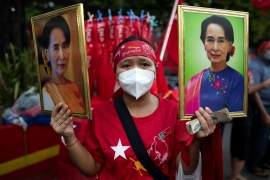 The National League for Democracy (NLD), led by Aung San Suu Kyi, recorded another landslide victory in elections held earlier this month [File: Shwe Paw Mya Tin/Reuters]