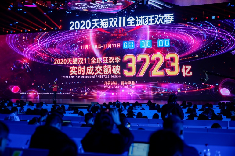 Singles' Day has become one of the world's biggest shopping events, with Alibaba raking in billions of dollars in sales [Aly Song/Reuters]