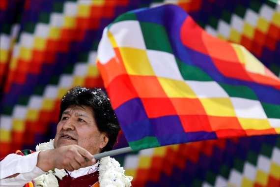 Morales is a divisive figure in Bolivian politics [Ueslei Marcelino/Reuters]