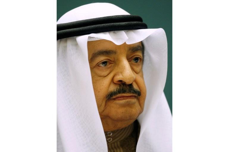 Sheikh Khalifa bin Salman Al Khalifa was undergoing treatment in the US [File: Denis Balibouse/Reuters]