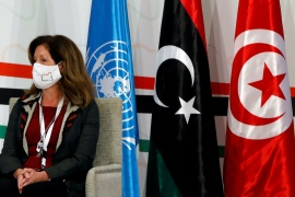 Interim UN Libya envoy Stephanie Williams attends the Libyan Political Dialogue Forum in Tunisia [File: Zoubeir Souissi/Reuters]
