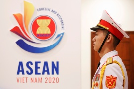 The ASEAN Summit got under way on Thursday with a focus on responding to the pandemic [Kham/Reuters]