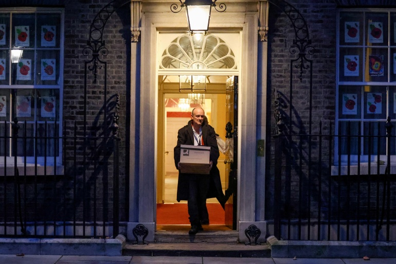 Cummings was sacked late last year and has recently been involved in a war of words with Downing Street [File: Henry Nicholls/Reuters]