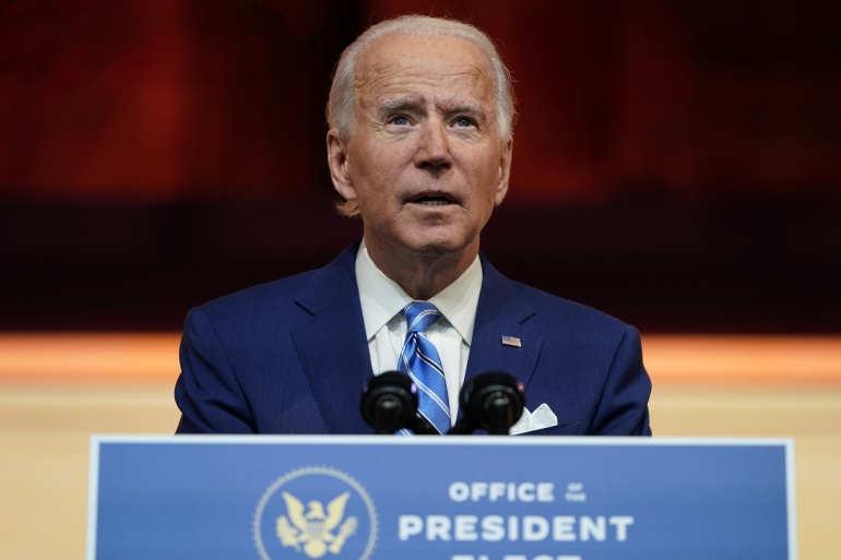 US President-elect Joe Biden has signalled plans to try to return to the 2015 nuclear deal with Iran [File: Joshua Roberts/Reuters]