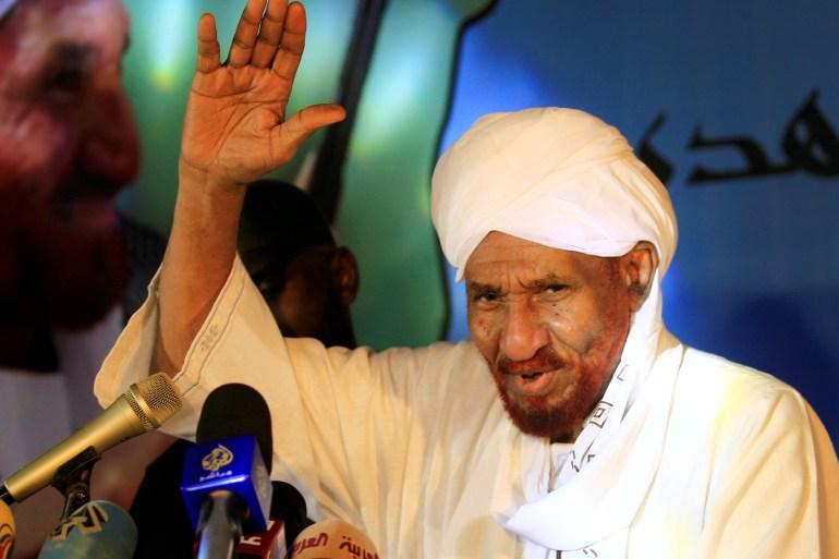 Sadiq al-Mahdi died three weeks after being hospitalised in the UAE [File: Mohamed Nureldin Abdallah/Reuters]