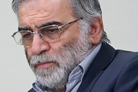 Prominent Iranian scientist Mohsen Fakhrizadeh is seen in Iran, in this undated photo [File: Official Khamenei Website/WANA (West Asia News Agency)/Handout/Reuters]