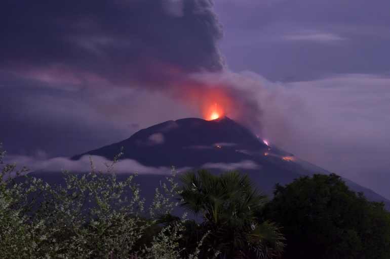 An eruption of Mount Ili Lewotolok in Lembata, East Nusa Tenggara Province, Indonesia [Aken Udjan/Antara Foto/Reuters]