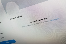 A pro-royalist Twitter account, thought be part of an influencing campaign, has been suspended by the social media platform [Matthew Tostevin/Reuters]