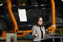 'We believe the ambitious electrification goals of the President-elect, California, and General Motors are aligned to address climate change by drastically reducing automobile emissions,' said General Motors chief Mary Barra in a letter on Monday [File: Jeff Kowalsky/Bloomberg]