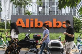 A surge in e-commerce in China has driven up Alibaba's revenues and shares this year, making it one of the world's most valuable companies [File: Gilles Sabrie/Bloomberg]