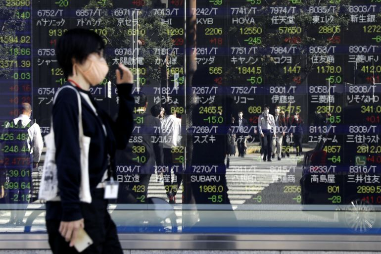 Japanese stocks were among the biggest gainers in Asia on Wednesday [File: Kiyoshi Ota/Bloomberg]