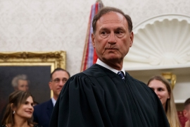 Supreme Court Justice Samuel Alito told the Federalist Society 'religious liberty is fast becoming a disfavoured right' [File: Carolyn Kaster/AP Photo]