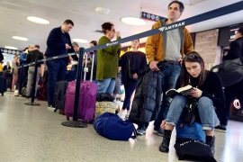 The US Centers for Disease Control and Prevention (CDC) on Thursday recommended Americans do not travel during next week's Thanksgiving holiday to mitigate the spread of the coronavirus as cases of COVID-19 spike [File: Seth Wenig/AP]