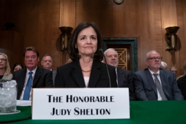 United States President Donald Trump's unconventional nominee to the Federal Reserve, Judy Shelton, has run into opposition from Republican senators [File: J. Scott Applewhite/AP Photo]