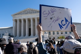 The future of the Affordable Care Act is at stake in a case being heard by the US Supreme Court [Alex Brandon/AP Photo]
