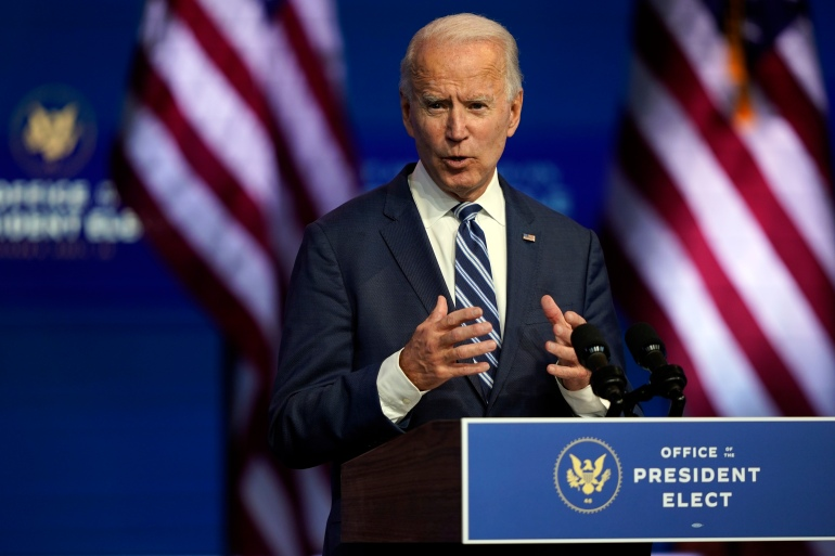 President-elect Joe Biden says he is not concerned, but national security experts worry about him not being in the loop on top-secret US intelligence [Carolyn Kaster/AP Photo]