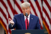 United States President Donald Trump again alleged fraud and accused the Democrats of 'stealing' the election [Evan Vucci/AP Photo]