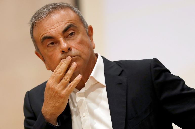 Former Renault-Nissan boss Carlos Ghosn turned international fugitive last year when he fled Japan where he faced trial for alleged financial misconduct [File: Hussein Malla/AP]