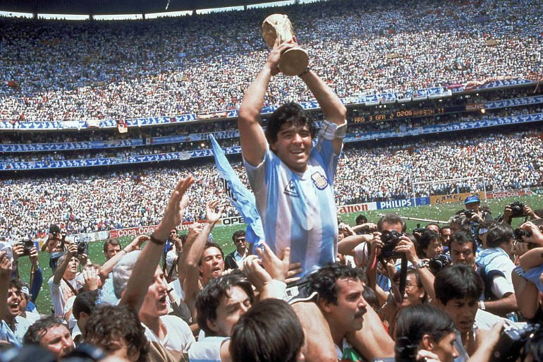 Maradona led Argentina to a World Cup victory in 1986 [File: Carlo Fumagalli/AP Photo]