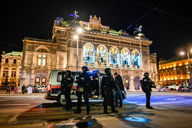 Four people were killed in the November 2 Vienna attack, and the gunman was also killed [File: Michael Gruber/Getty Images]