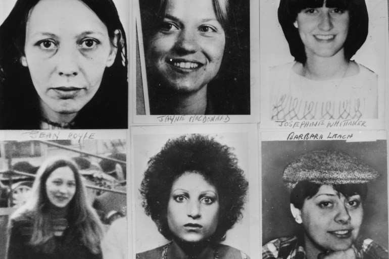 Six of the women murdered by Peter Sutcliffe, known as the Yorkshire Ripper. Top left to right; Vera Millward, Jayne MacDonald, Josephine Whittaker and bottom left to right; Jean Royle, Helga Rytka and Barbara Leach [Photo by Keystone/Getty Images]