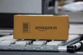 #BoycottAmazon was one of the top trending topics on Twitter in India, with users sharing screenshots of Amazon listings of doormats and underwear emblazoned with God Ganesha and other symbols Hindus consider sacred [File: Abhishek N Chinnappa/Reuters]
