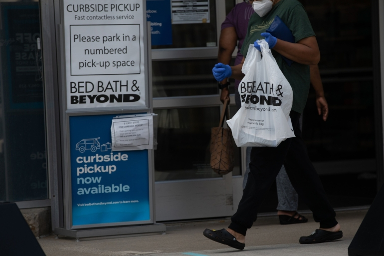 In its most recent quarterly filing, Bed Bath & Beyond said it has held back $50.6m in rent payments and is in negotiations with its landlords [File: Bloomberg/Reuters]