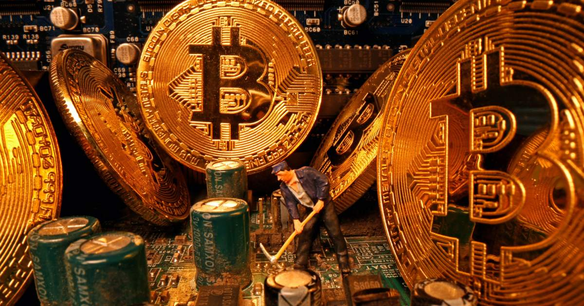 www.aljazeera.com: Bitcoin slumps 14% as pullback from record gathers pace