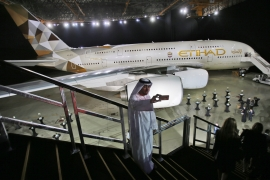 Direct flights on Etihad between the emirates' capital of Abu Dhabi and Tel Aviv will begin March 28 with tickets already available on Etihad's website [File: Kamran Jebreili/Reuters]