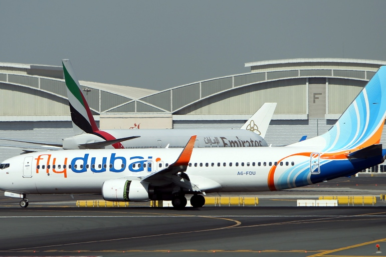 Flydubai says it will operate 14 weekly services between Dubai and Tel Aviv from November 26 [Ali Haider/EPA]