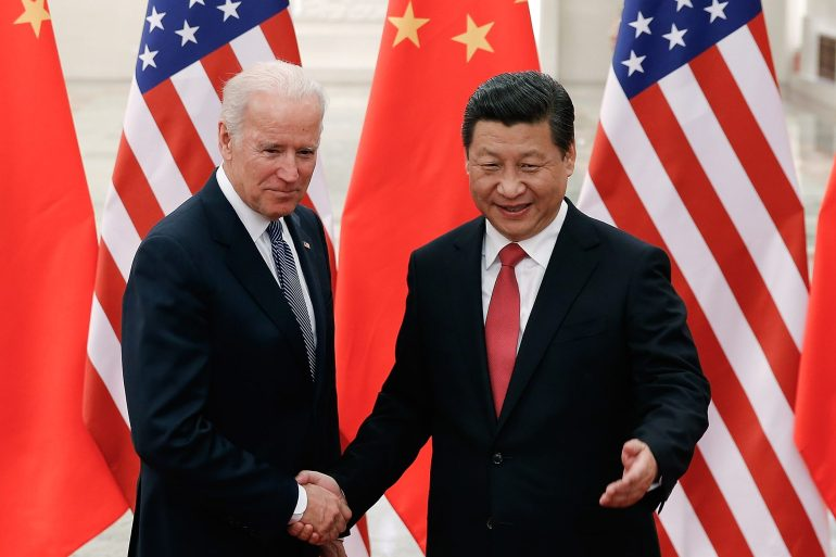 Xi expresses the hope that the two sides will uphold the spirit of non-conflict and non-confrontation [File: EPA]