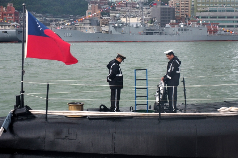 Taiwan is to build its own submarines amid rising cross-strait tensions. Its current fleet includes two submarines dating from the 1980s [File: David Chang/EPA]